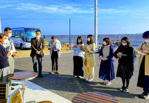 宮城大学教職員と生徒にお立ち寄り頂きました!