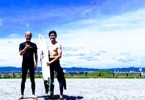 休館日は、サーフィンからの仕事!